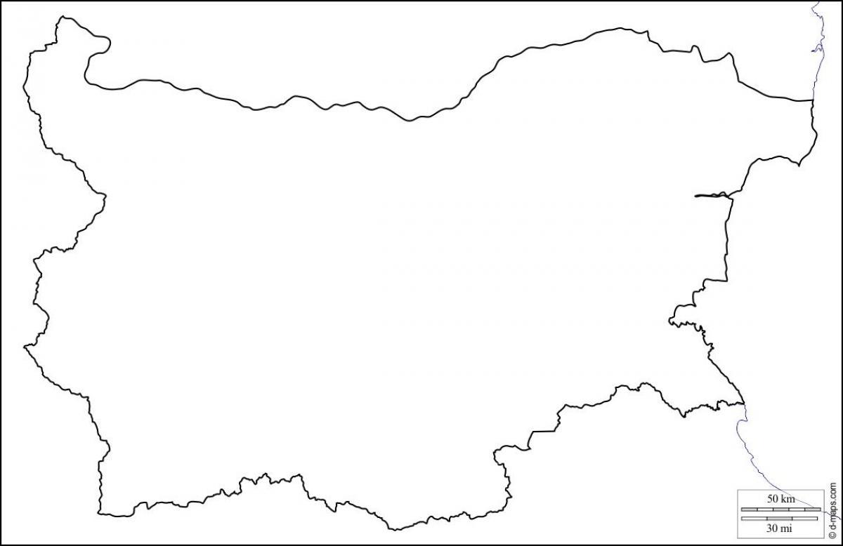 Bulgaria Harta Contur Harta Bulgaria Harta Contur Europa De Est